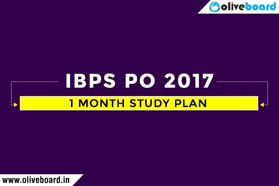 IBPS PO 2017 Prelims Study Plan