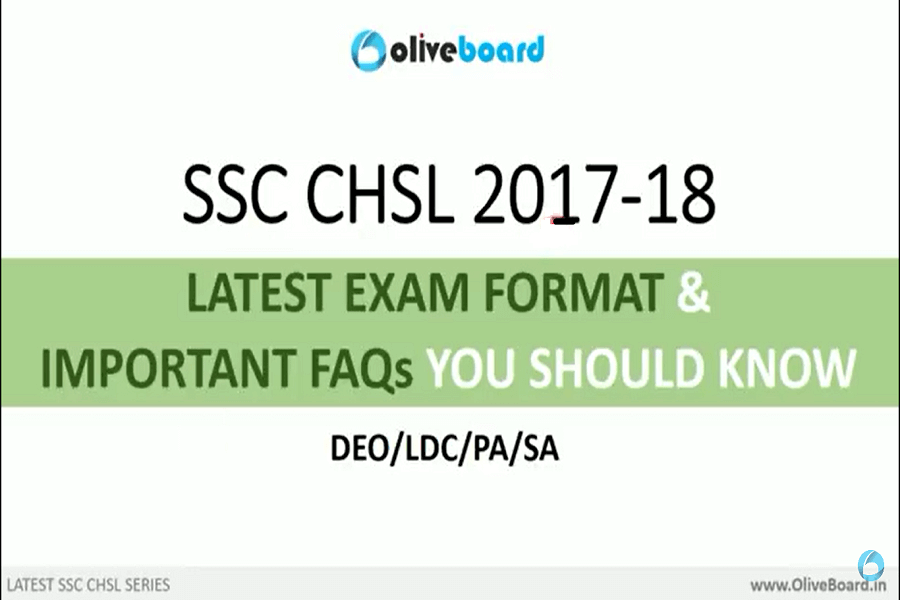 SSC CHSL 2017-18 Exam Pattern