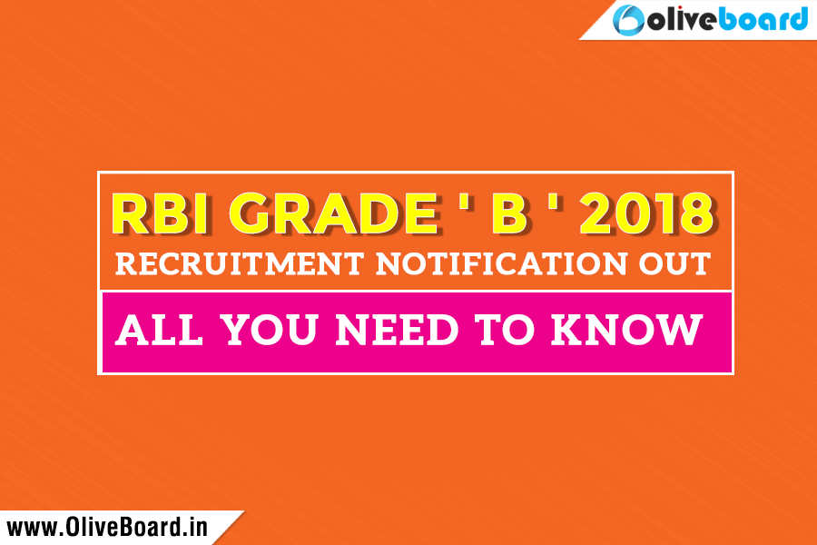 rbi grade b notification 2018