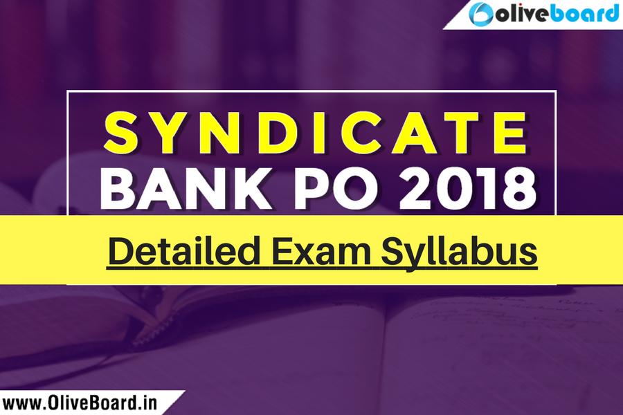 Syndicate Bank PO 2018 Exam Syllabus