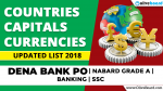 Countries | Capitals | Currency - Updated List 2018