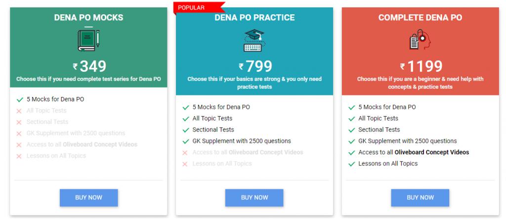 Dena Bank PO Mock Tests