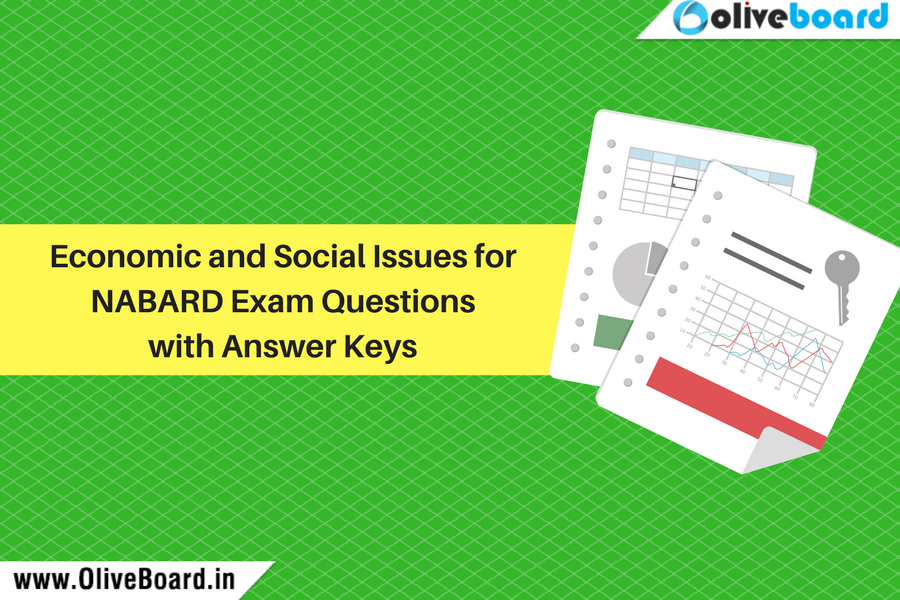 Economic and Social Issues for NABARD Exam Questions with Answer Keys