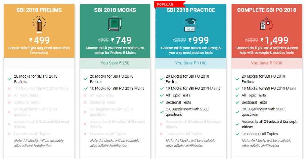 SBI PO 2018 Mock Tests