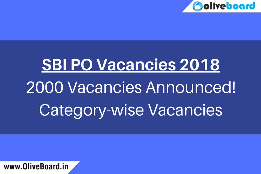 SBI PO Vacancies 2018