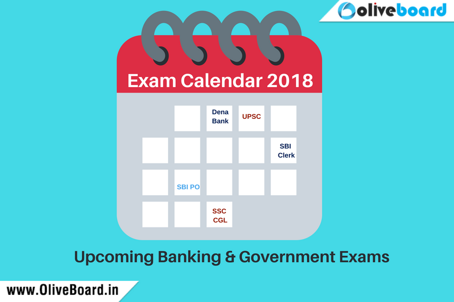 Exam Calendar 2018 for Upcoming Banking and Government Exams