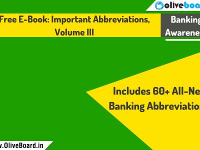 Free Ebook Important Abbreviations Volume III