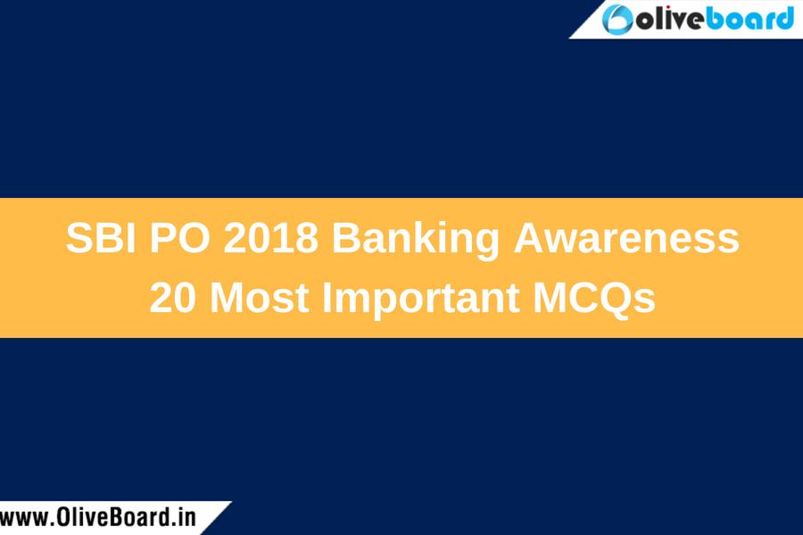SBI PO 2018 Most Important MCQs