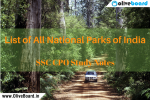 SSC CPO Study Notes National Parks