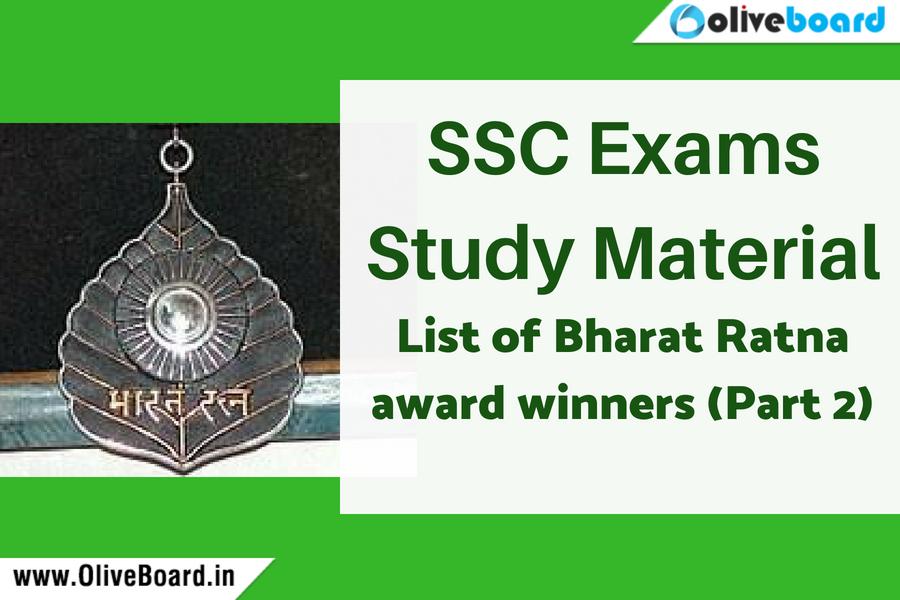 SSC Exams Study Material Bharat Ratna 2