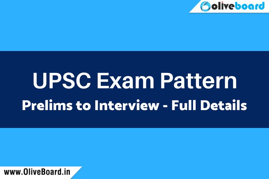 UPSC Exam Pattern 2019