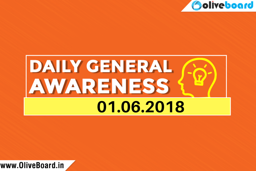 DAILY GK CURRENT AFFAIRS – 1st JUNE 1