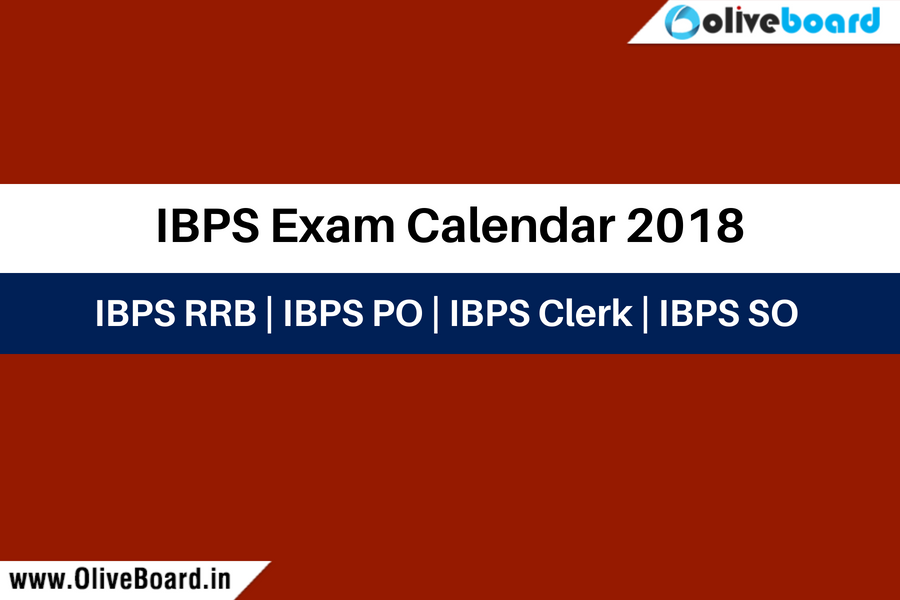 IBPS Exam Calendar 2018
