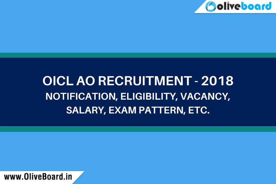 OICL AO Recruitment 2018