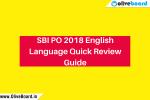SBI PO 2018 English Language Guide
