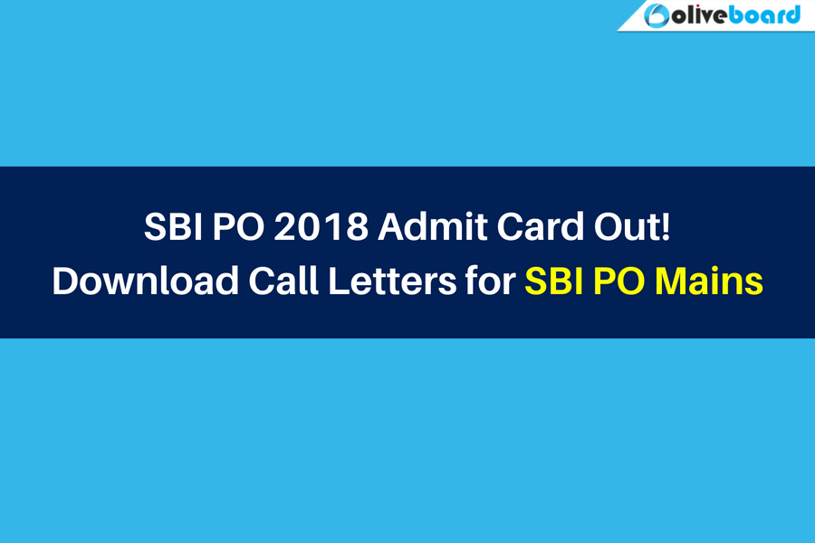 sbi po admit card download link 2018