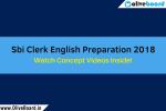 Sbi Clerk English Preparation