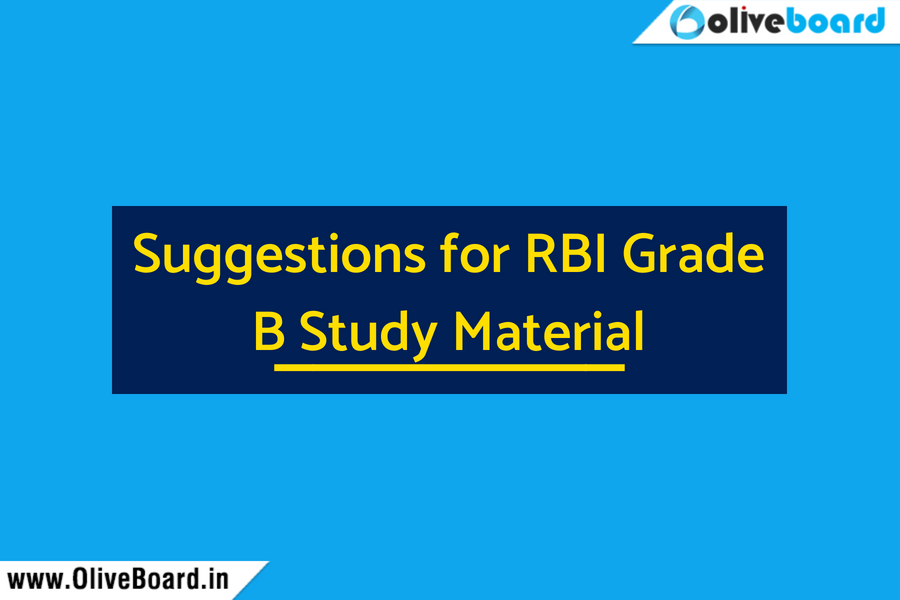 Suggestions for RBI Grade B Study Material