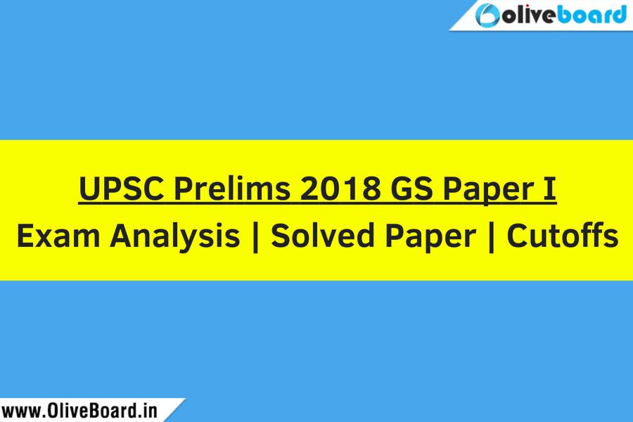 UPSC Prelims 2018