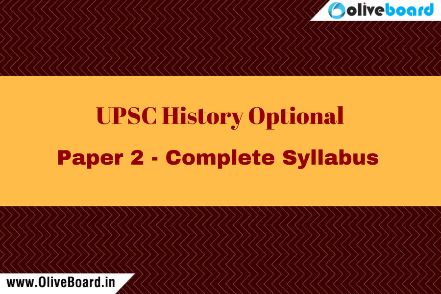 UPSC IAS History Optional Paper 2