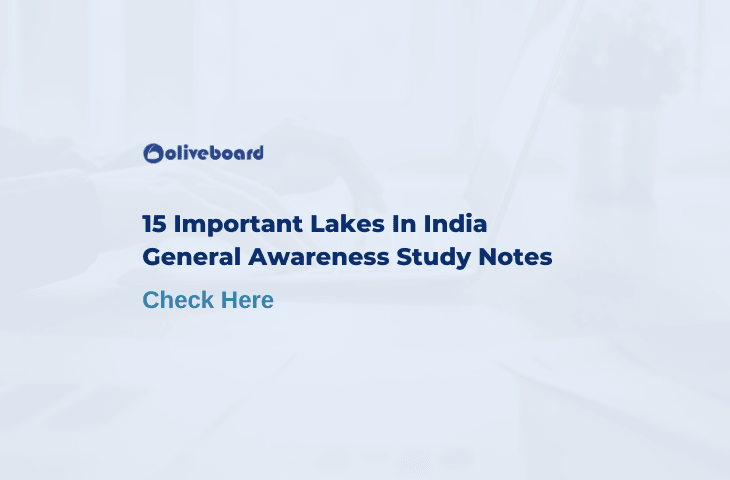 15 Important Lakes in India
