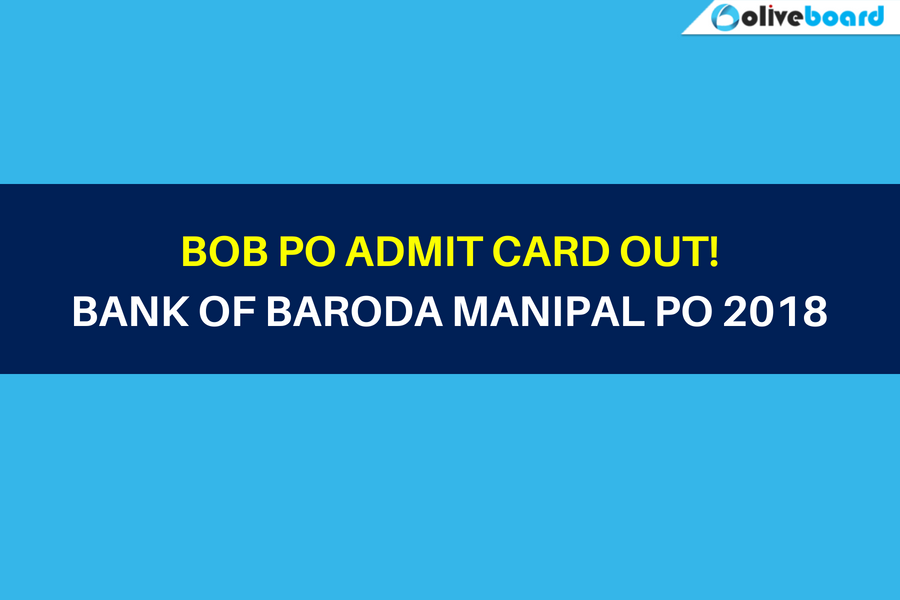 BOB PO Admit Card Out