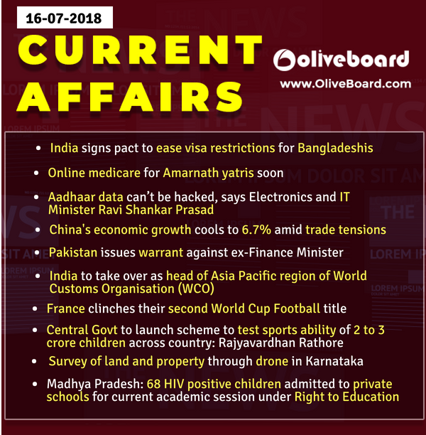 DAILY GK CURRENT AFFAIRS – 16th July