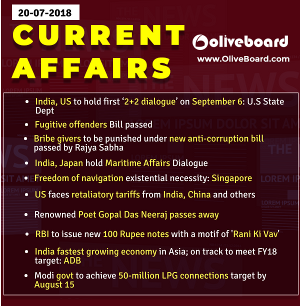 DAILY GK CURRENT AFFAIRS – 20th July