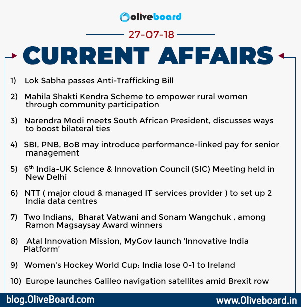DAILY GK CURRENT AFFAIRS – 27th July