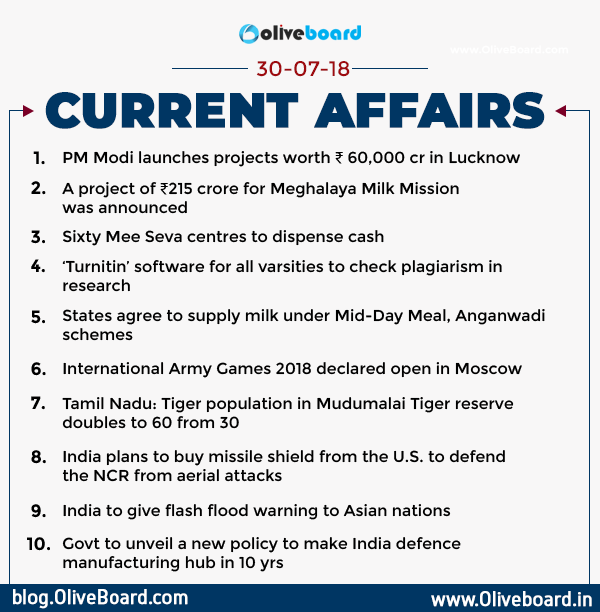 DAILY GK CURRENT AFFAIRS – 30th July