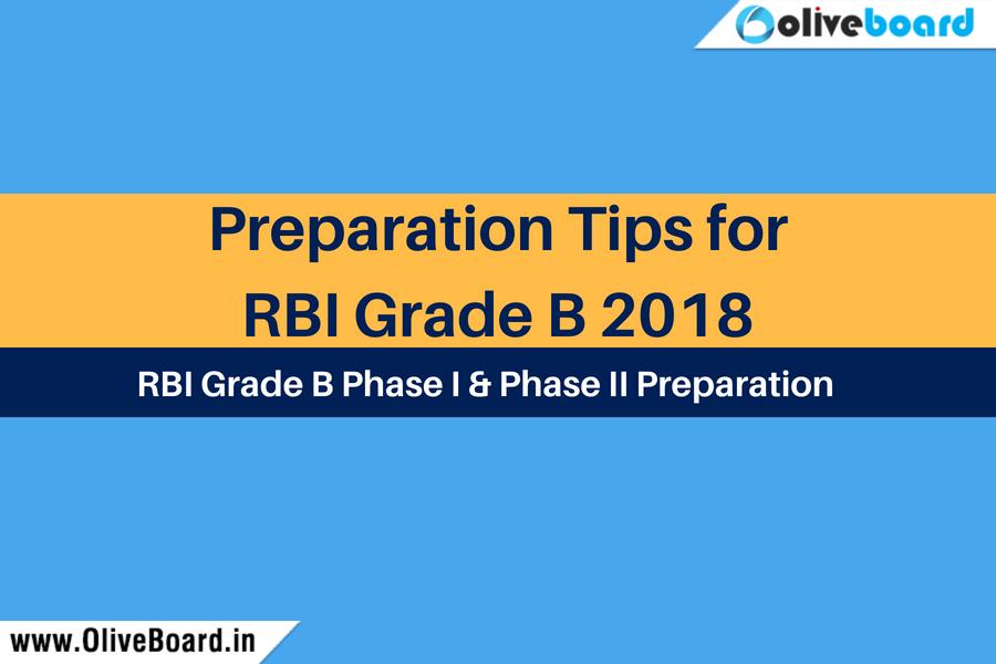 preparation tips for RBI Grade B