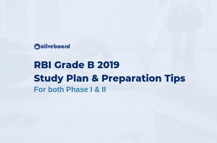 RBI Grade B 2019 Study plan