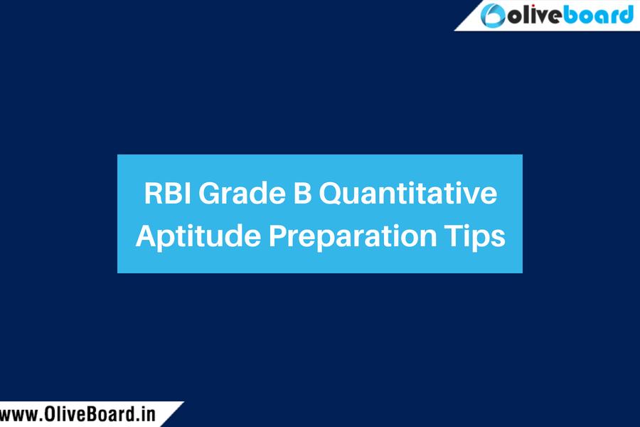 RBI Grade B Quantitative Aptitude Preparation Tips