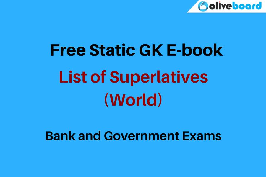 Free Static GK E-book superlatives