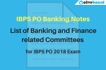 IBPS PO Banking notes committees