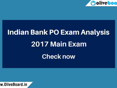 Indian Bank PO Exam Analysis
