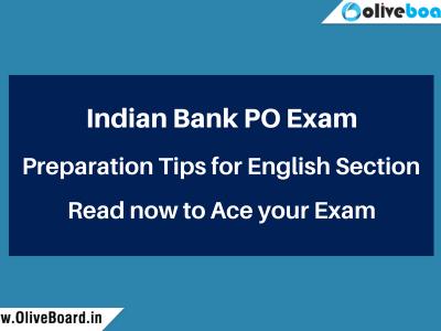 Indian Bank PO Exam Preparation English