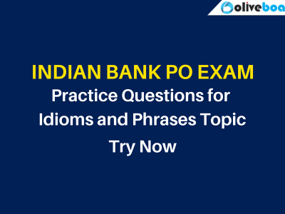 Indian Bank PO Practice Questions