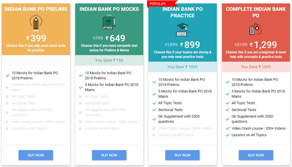 Indian Bank PO Prelims 2018