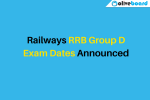 RRB Group D Exam Dates