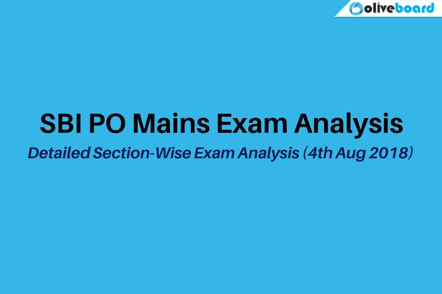 SBI PO Mains Exam Analysis