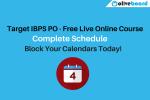 Target IBPS PO Schedule