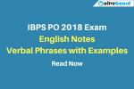 IBPS PO english notes verbal phrases