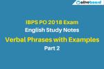 IBPS PO english study notes verbal phrases 2