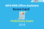 IBPS RRB Office Assistant Prelims Score Card