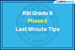 Last Minute Tips for RBI Grade B
