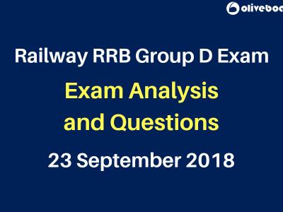 Railway RRB Group D 2018 Exam Analysis 23 sep
