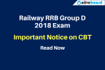 Railway RRB Group D 2018 Exam Notice