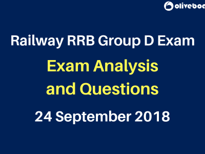 Railway RRB Group D 2018 Exam Questions 24 sep