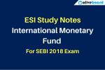 ESI Study notes IMF SEBI Exam